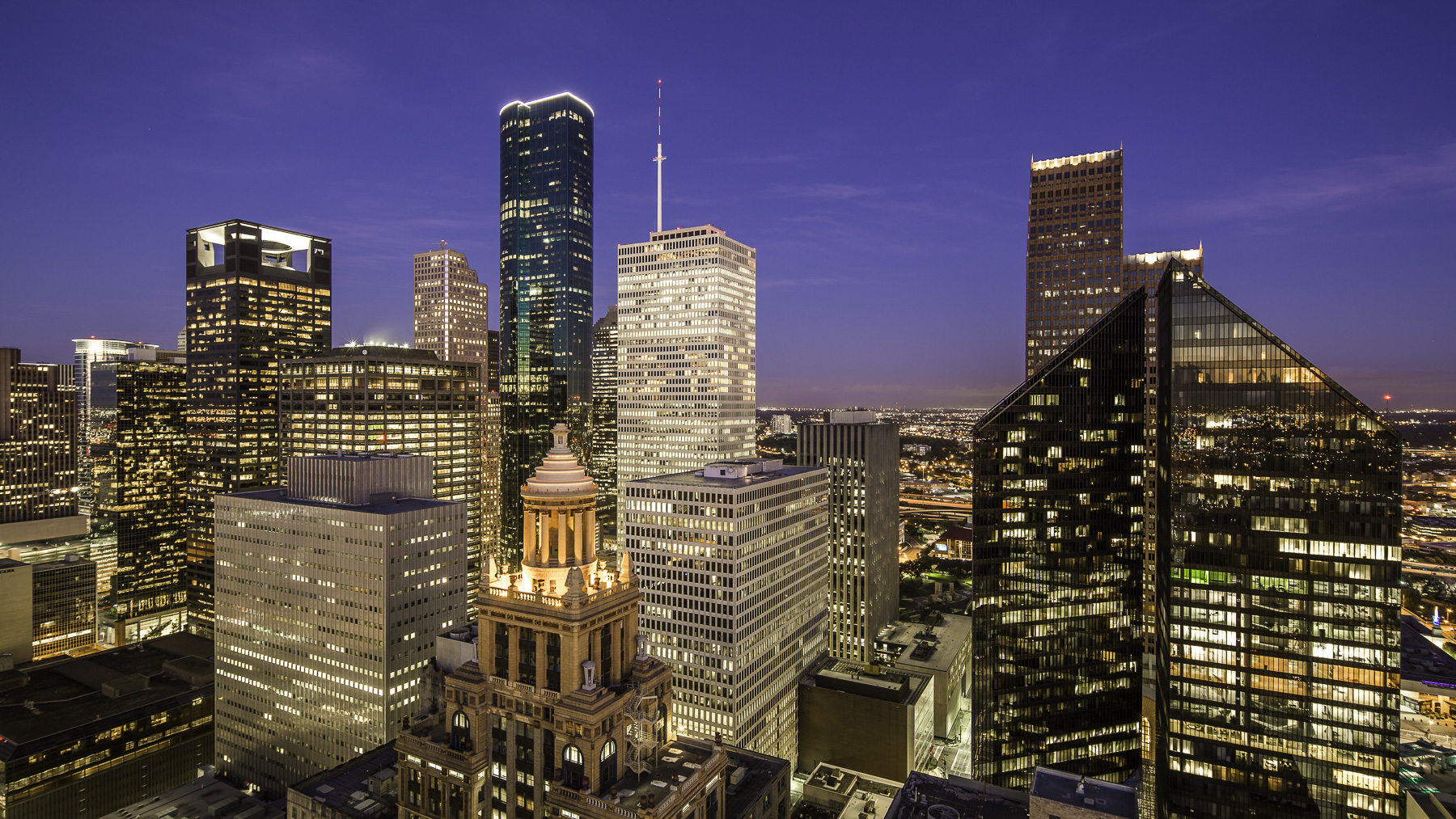 downtown houston skyline the west side mabry campbell lr